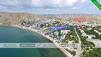 Расположение квартиры в Орджоникидзе - Крым.