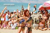 Празднование натуристского Нептуна в Коктебеле и Лисьей бухте