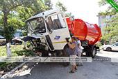 Новый мусоровоз в Орджоникдизе.
